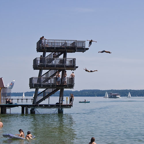 AMMERSEE BAVARIA Sprungturm in Utting am Ammersee
