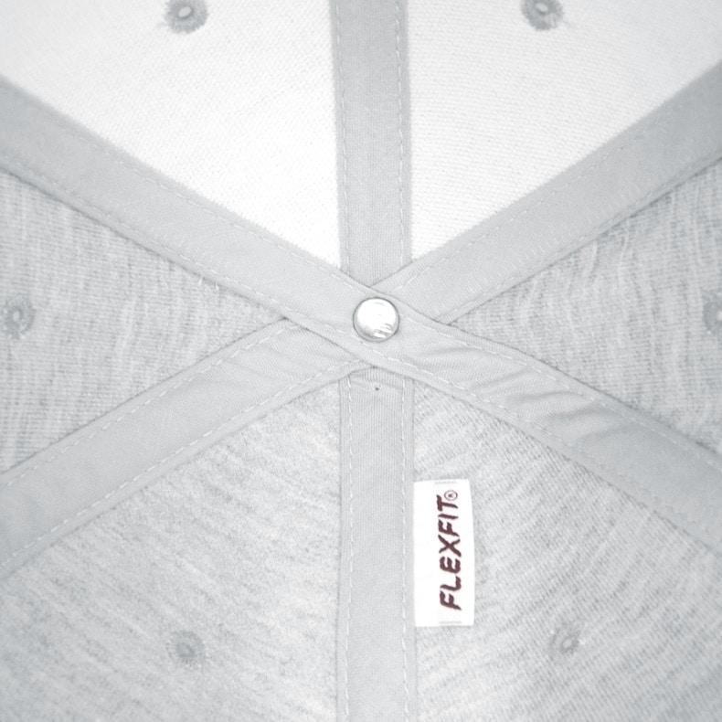 Unteransicht eines hellgrauen CB Ammersee Flexfit Cap Single Jersey